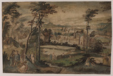 Landscape with pairs of lovers