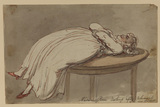 Madame Rose resting after rehearsal of a new ballet