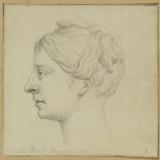 Profile portrait of a lady (Mrs Catherine Knapp)