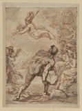 Polyphemus hurling a rock