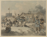 Chinese village scene