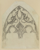 Designs for stained glass windows (recto)