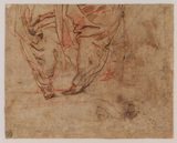 Studies of Rest on the Flight and draperies (verso)