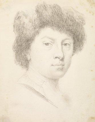 Young man in a fur cap (self-portrait ?)