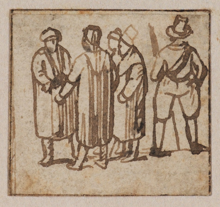 Group of five figures