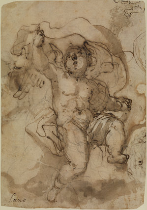 Putto on a cloud