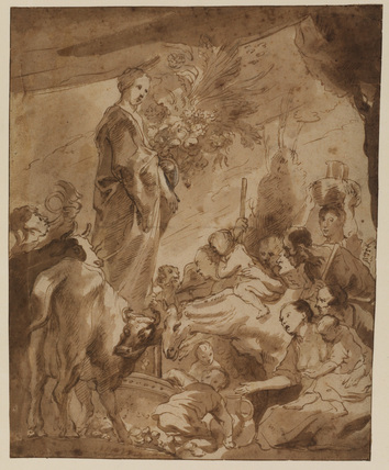 Offering to Ceres (study for the painting in the Prado, Madrid)