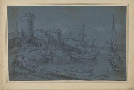 Italian harbour scene