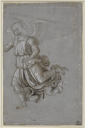 Study of a flying angel (recto)