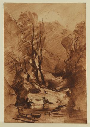 Mountain stream (recto)