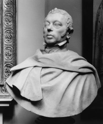 Portrait bust, possibly Count de Pourtales