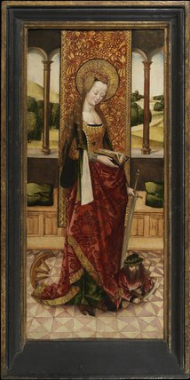 Saint Catherine (left panel of a triptych)