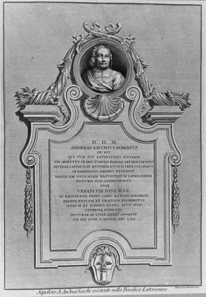San Giovanni Laterano;Monument to Andrea Sacchi