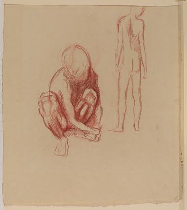 Studies of a nude boy