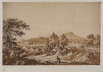 Classical landscape with figures