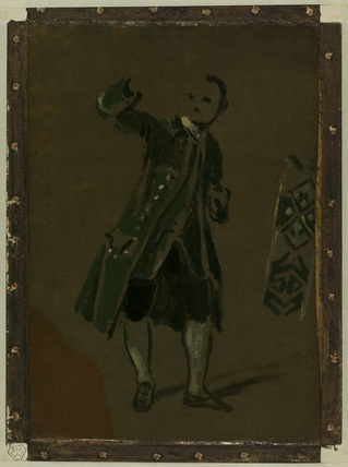 Costume study - standing figure of a man