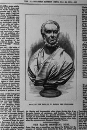 Bust of MIchael William Balfe