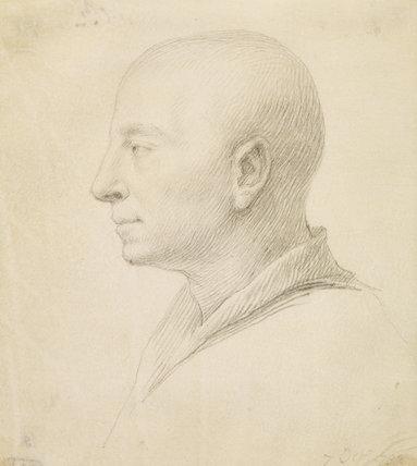 Profile portrait of a man (Richardson, Johnathan the Elder?)