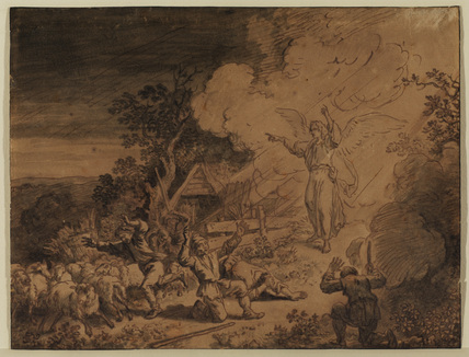 Angel appearing to the shepherds