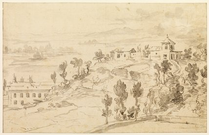 Landscape with ecclesiastical buildings