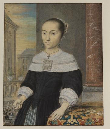 Half-length portrait of a lady