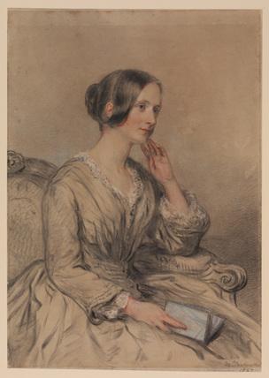 Three-quarter length portrait of a lady - Mrs. J. de Bermier (?)