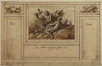 Design for wall decoration (recto)
