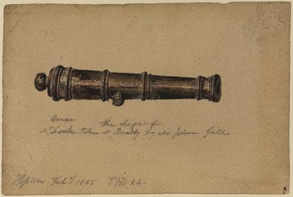 Cannon (recto)