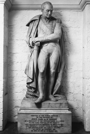 St Paul's Cathedral;The Crypt;Statue of John, Earl of St Vincent