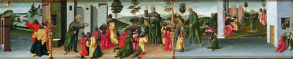 Legend of Saint Thomas the Apostle - Saint Thomas baptising Gundaphorus and other episodes