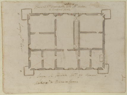 Plan of the piano nobile, Villa del Pigneto Sacchetti at Castelfusano, near Ostia