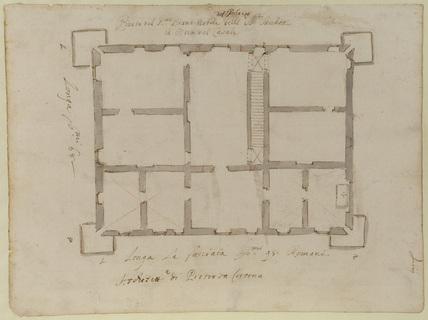 Plan of the piano nobile, Villa del Pigneto Sacchetti at Castelfusano, near Ostia