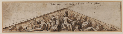 Design for a pediment - allegory
