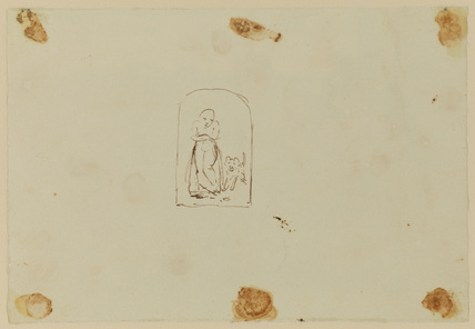 Figure with a dog (verso)