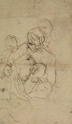 Study for Virgin and Child (verso)