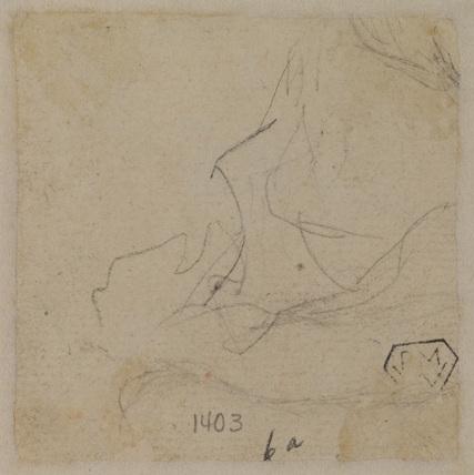 Studies of five female figures (recto)
