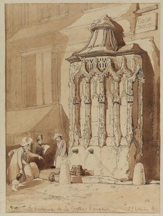 La Fontaine de la Crosse, Rouen