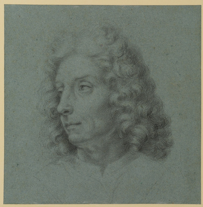 Head of a man turned to left