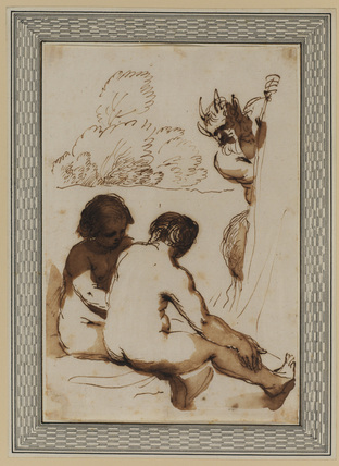 Two nymphs and a satyr