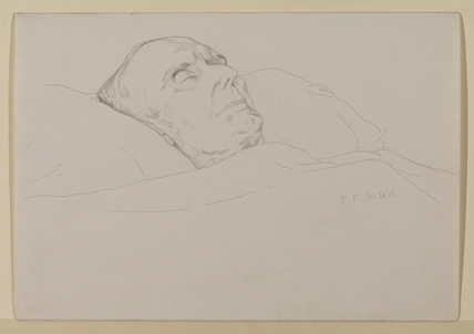 Sir Edward Fry on his deathbed
