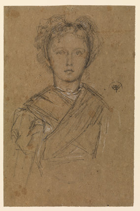 Portrait of Elinor Leyland, in a kimono (?)