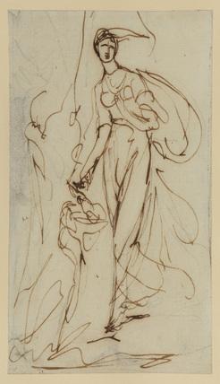 Study for a portrait - female figure sacrificing