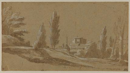 Italian landscape (recto)