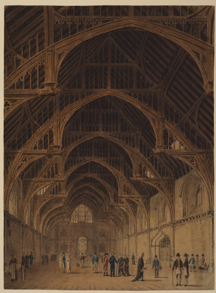 Interior of Westminister hall