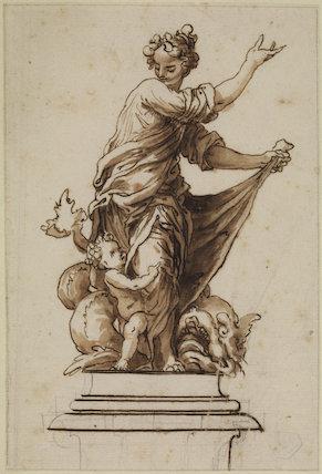 Allegorical group on a pedestal