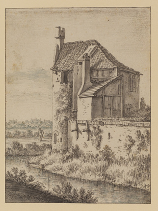 Landscape with a house by a canal