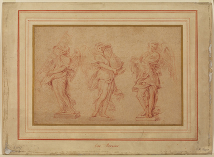 Studies for three sculptured angels