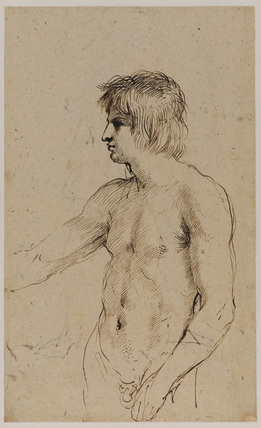 Nude figure of a young man