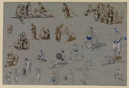 Figure studies (recto)