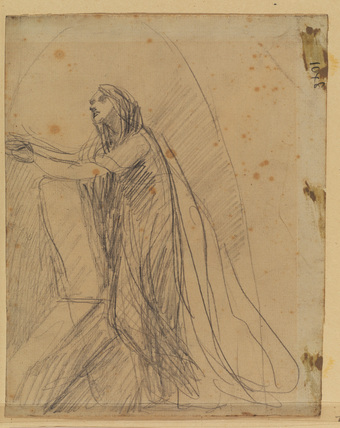 Study for a portrait of Lady Hamilton (recto)